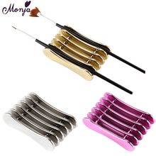 Rack-Accessory Brush Storage-Stand-Holder Manicure-Tool Nails Monja-5 Crystal Grid Pen-Carrier