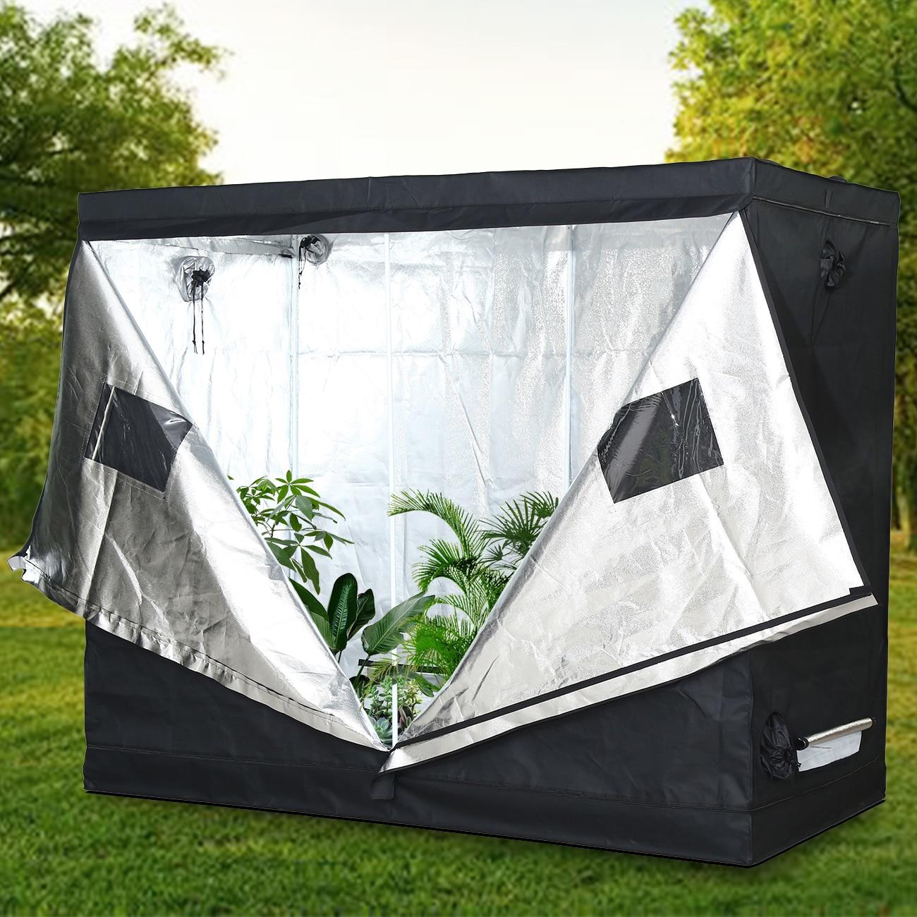 Yonntech 243×122×199 CM Grow Tent Indoor Hydroponics Led Grow Light Grow Room Plant Growing Reflective Garden Greenhouse