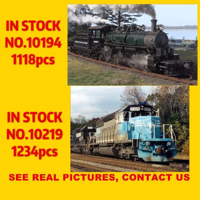 21005 1180 шт. 21006 1234 шт., совместимые с технической серией, модель ночного поезда, набор для строительства, блочные кирпичи, игрушки, подарки 10194 ...