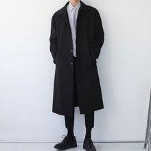Japan Style Mens Trench Coat 2020 Fashion Designer Long Windbreaker Autumn Winte