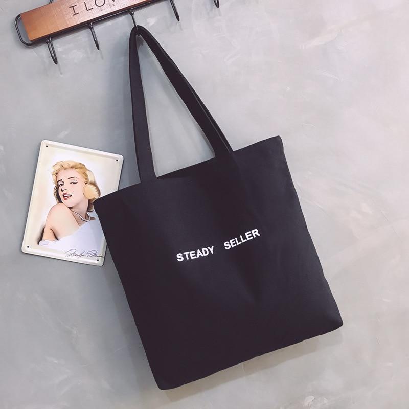 Large Capacity Canvas Tote Bag Fabric Cotton Cloth Reusable Eco Bag Women Beach Handbags Printed Shopper Bags For Women 2019 Sac