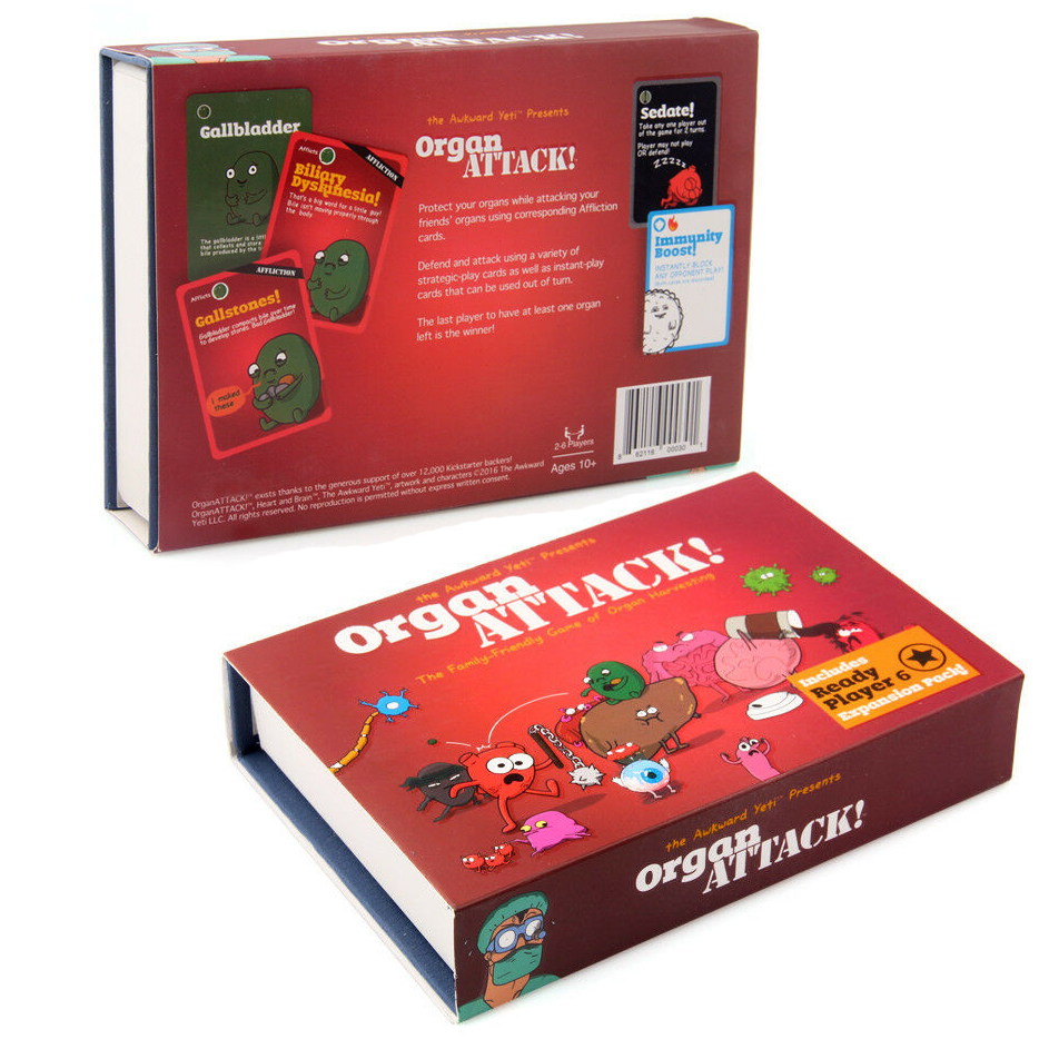Organ ATTACK Human Family Friendly Funny Board Card Game Rules New Sealed Toy Family Party Entertainment Adult Geek Clue Obscur