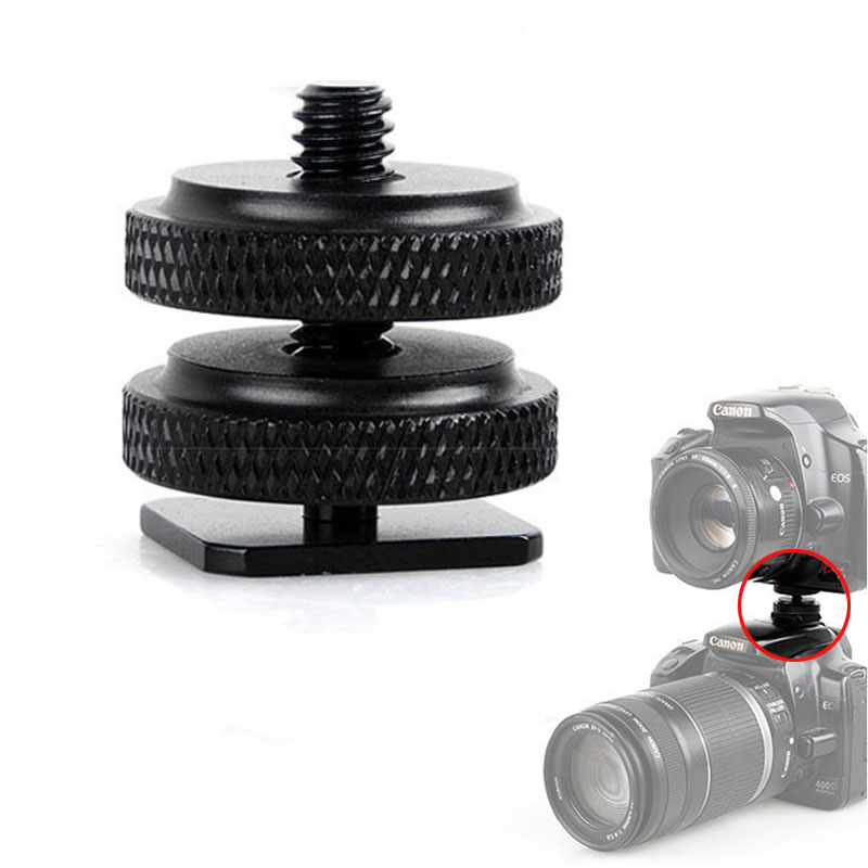 1/4' Tripod Mount Screw With Double Layer To Flash Hot Shoe Adapter Holder Mount Photo Studio Accessories High Quality /3