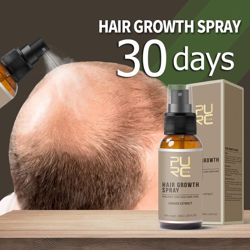 PURC 30 Days Hair Growth Spray Strengthen Hair Liquid Fast Grow Restoration Dense Hair Prevent Hair loss Treatment Hair Care