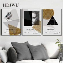 Modern Simple Art Wall Painting Picture Fashion Geometry Home Printing Poster for Living Room  DJ629