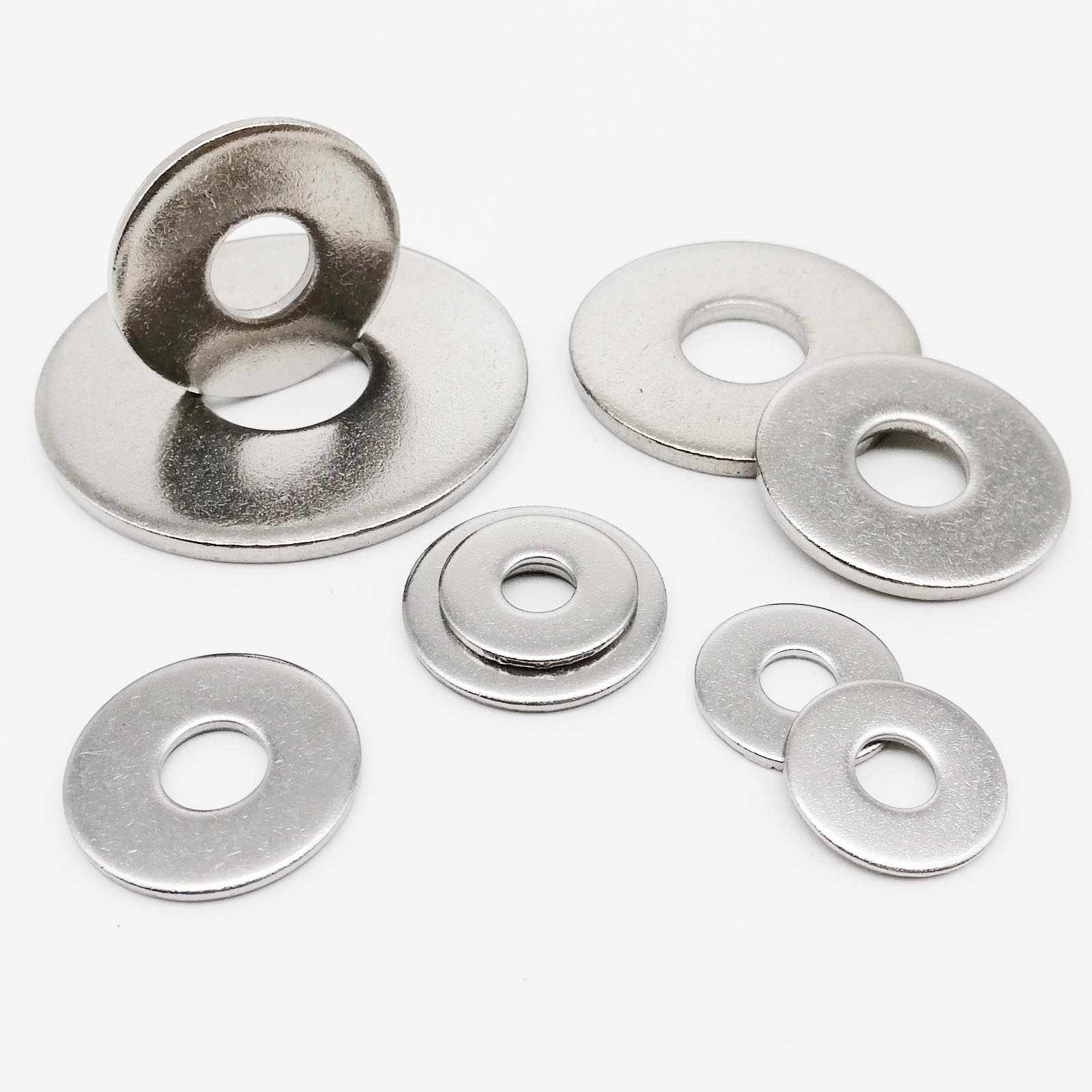 Flat Washers A2 Stainless Steel Washer M3 M4 M5 M6 M8 M10 M12 M14 M16 M18 M20