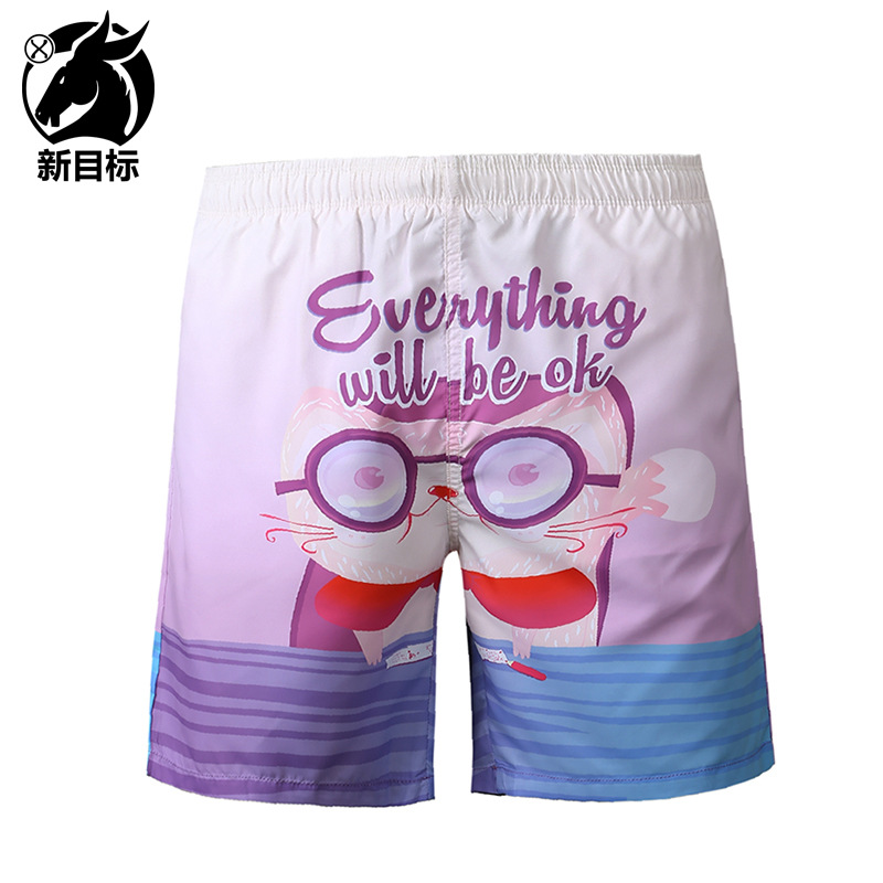 AliExpress Hot Selling 2019 Spring And Summer New Style Popular Brand Swimming Trunks Cartoon 3D Printed Beach Shorts MEN'S Wear