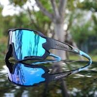 2019 lunettes de sport polarisées hommes lunettes de cyclisme 3 lentilles lunettes de cyclisme en plein air VTT lunettes de cyclisme UV400 lunettes de soleil de cyclisme