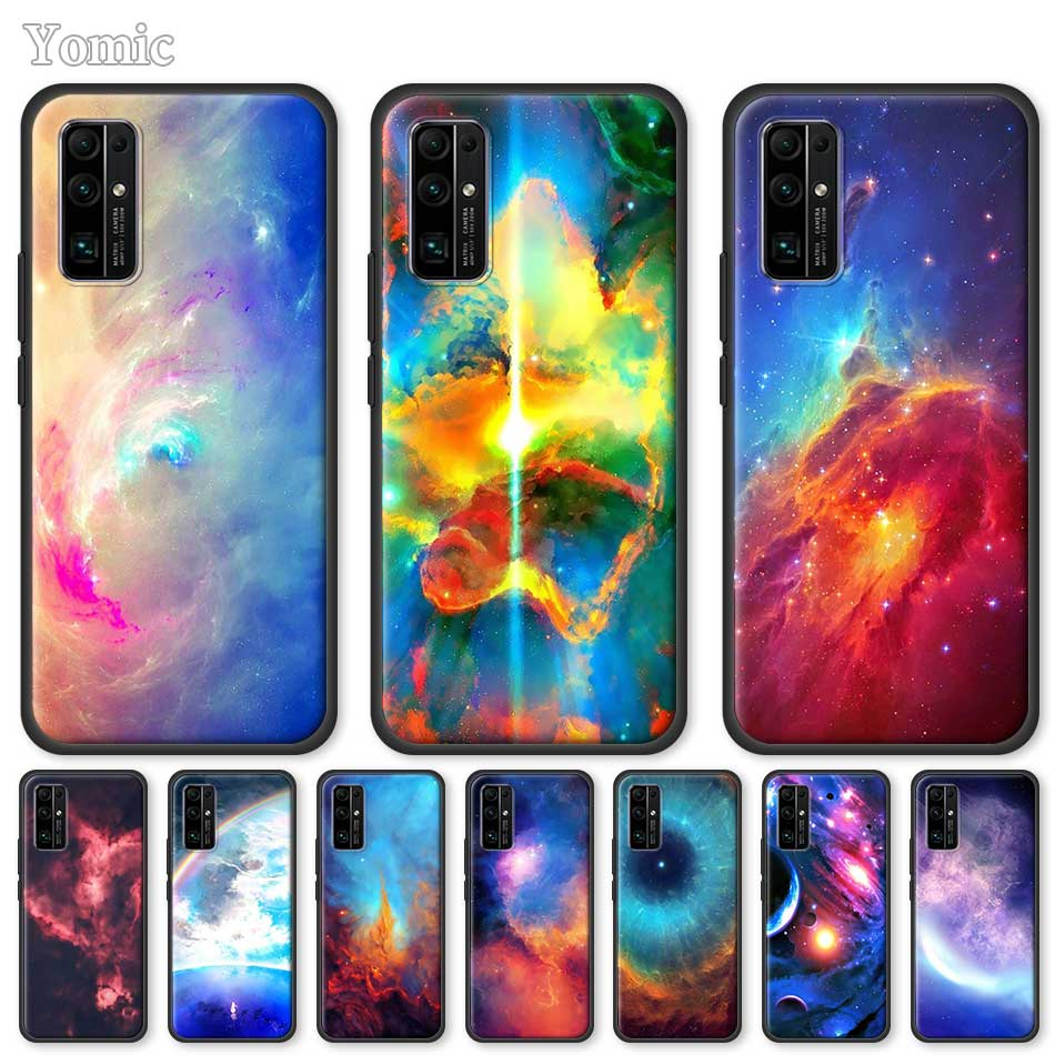 Soft Case For Huawei Honor 20 Pro 9C 9S 10X Max 8X 30 Play 9A Y6 Y9 Prime 2019 Mate 20 Lite Black Cover Universe Space Nebula
