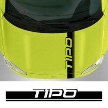 Per Fiat Tipo Automatico Del Motore Cofano Trim Grafica Del Vinile Stripes Adesivi Car Styling Cappuccio di Copertura Decorazione di Sport Decalcomanie Accessori