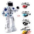 RC робот боевой игрушка с английской музыкой интеллектуальные фигурки чувство дистанционного управления для детей подарок на день рождения...