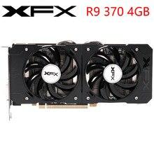 XFX видеокарта R9 370 4 Гб 256Bit GDDR5 Графика карты для AMD R9 300 серии VGA карты R9370 DisplayPort 560 570 580 480 RX б/у