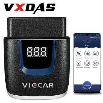 цена на VXDAS Code Readers & Scan Tools OBD2 Bluetooth Scanner For Car Automotivo Tools OBDII WIFI Auto Diagnostic Scanner Automotriz