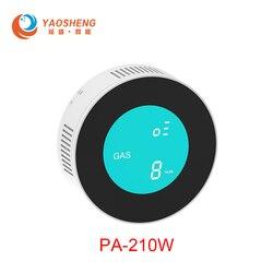 Detector de Gas PA-210 WiFi/GPRS alarma de fugas naturales Detector de Gas Combustible para el sistema de alarma del hogar alarma