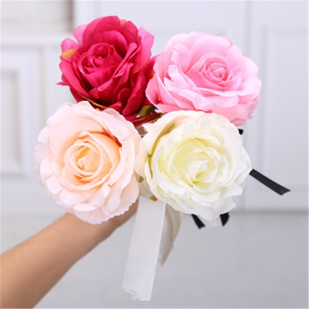 New Creative Valentine's Day Rose Bow Ballpoint Pen Fashion Simulation Flower Writing Pen Girlfriend Valentine's Day Present