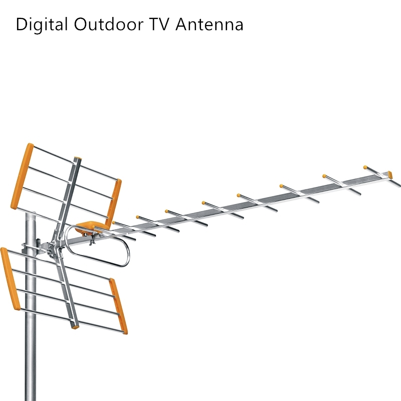 High Gain HDTV Antenne HD Digital <font><b>Outdoor</b></font> <font><b>TV</b></font> Antenne Für DVBT2 HDTV ISDBT Hohe Verstärkung Starke Signal Außen High Gain <font><b>TV</b></font> Antenne image