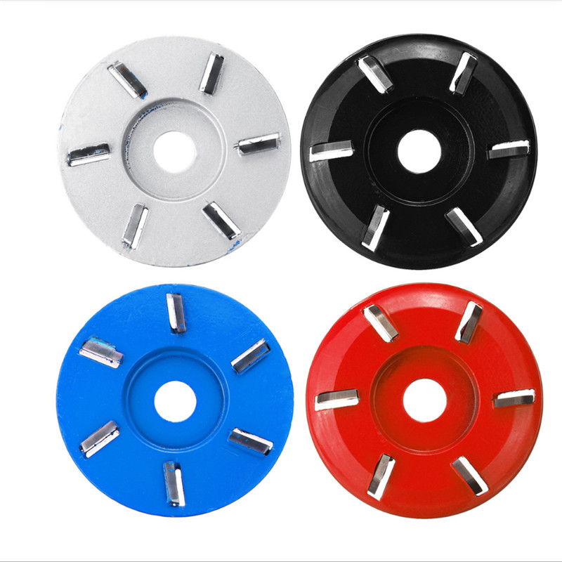 ALLSOME 90mm Woodworking Wood Carving Disc Tool Six-Tooth Blade For 16mm Aperture Angle Grinder HT2877