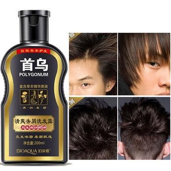 цена Polygonum Multiflorum Anti-dandruff Shampoo Anti-Dandruff Anti Hair Loss Moisturizing Refreshing Oil Control Black Hair Care онлайн в 2017 году
