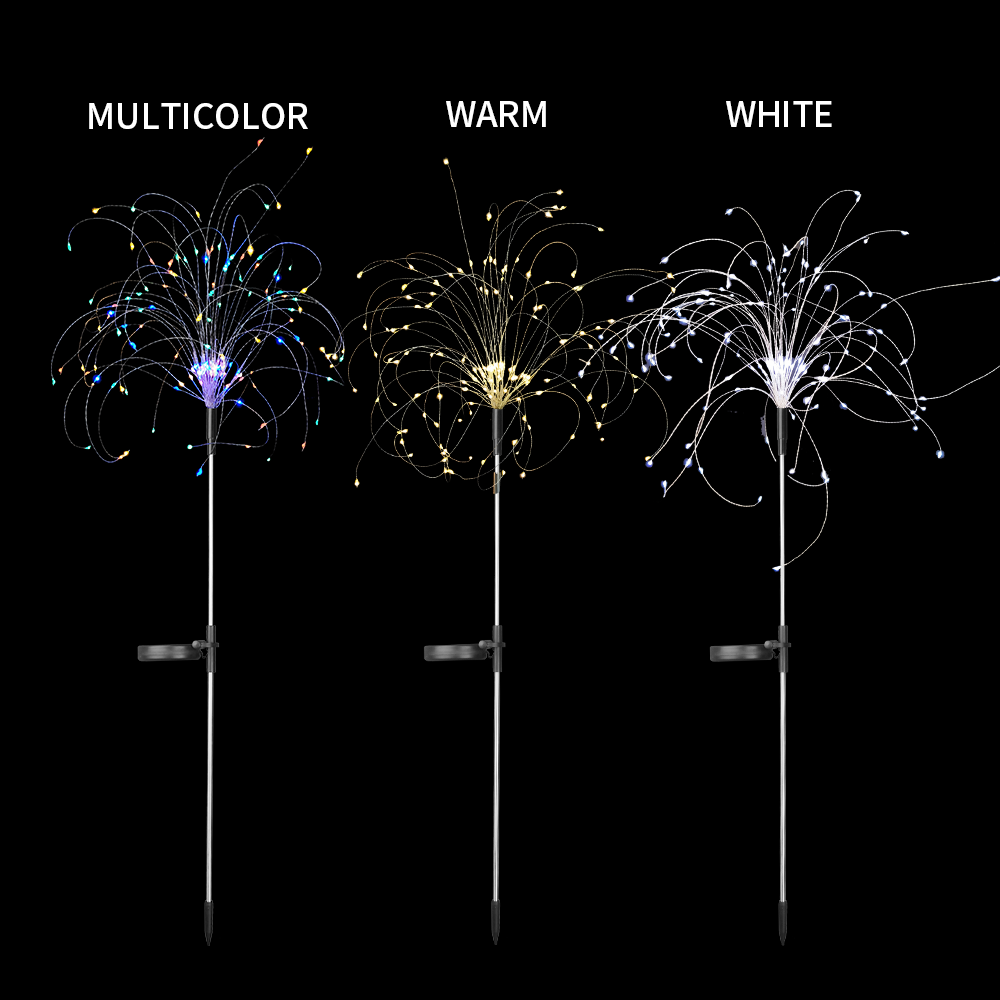 lowest price 90 150 LEDs Outdoor LED Solar Fireworks Lights Waterproof Flash String Light For Lawn Garden Patio Christmas Holiday Decoration