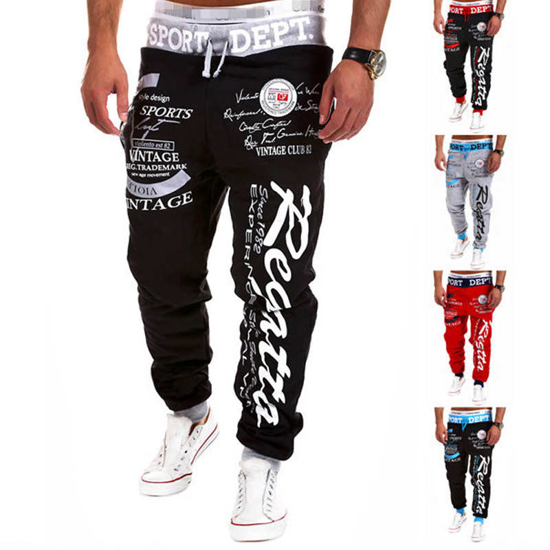 Men Pants With Cuffs Casual Fashions Sweatpants Mens Joggers Streetwear Pantalones Hombre Hip Hop Sweat Man Stretch Trousers