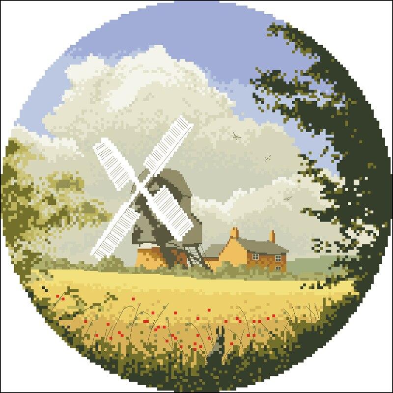C 麦田风车 Wheatfield windmill JCCM339