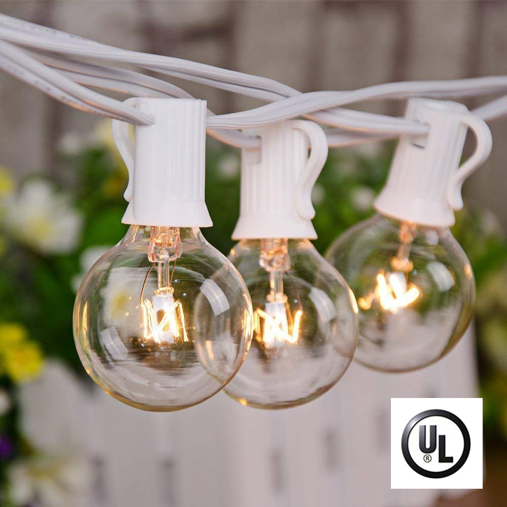 Outdoor String Lights 25Ft Patio String Lights with 25 Edison Bulbs UL Listed Incandescent String Lights Garden/Backyard Party