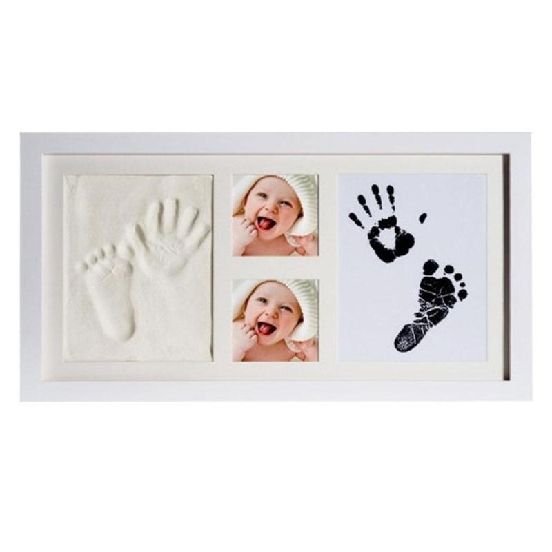 Multifunction Baby Footprint Makers Non-Toxic Babyprints Newborn Baby Handprint Footprint Photo Frame Kit Gift The Picture Frame
