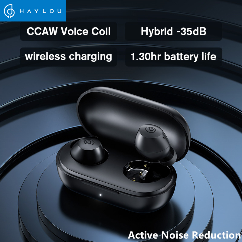 New Haylou T16 HD call Four Micphone bluetooth earphonesHybrid -35dB Active Noise Reduction Wireless earphonesCCAW Voice Coil