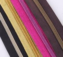 No 5 # цветная лента на молнии метров кожаная нейлоновая катушка