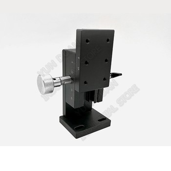 Z Axis 40*60MM Lift Manual Precision Fine Tuning platform adjustment Optical Sliding lifting Dovetail Groove Guide 15mm travel