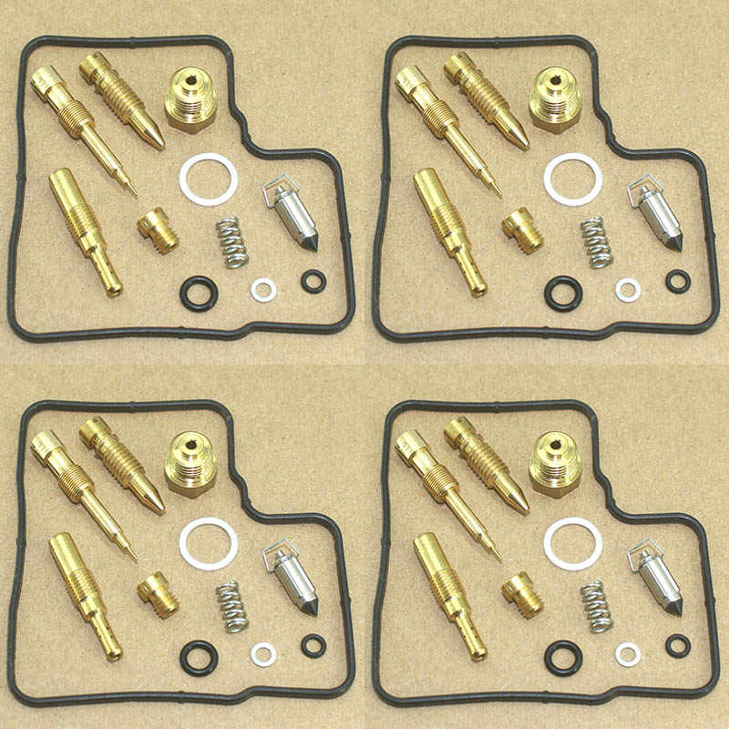 Used For 4 Carburetor Carb Repair Kit Rebuild Set Gasket Valve For Honda VFR 750 F RC36