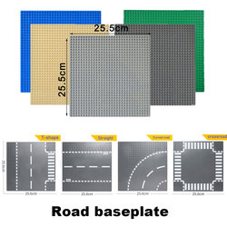Road plate Classic Base Plates Compatible LegoINGlys race track Baseplates Building Blocks Construction Toys 32*32 Dots