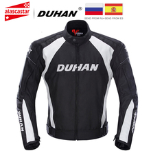 DUHAN Motorcycle Jacket Racing Moto Jacket Clothing with Five Protector Breathable Waterproof and Windproof Laminated Fabric dunham summer clothing automobile race motorcycle ride motorcycle breathable mesh jacket racing clothing