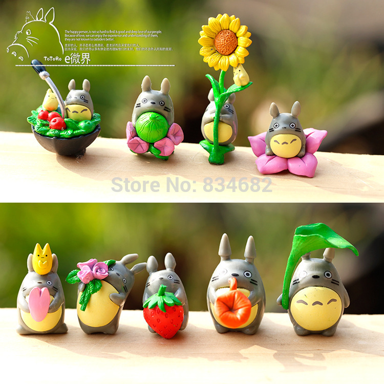 9Pcs/Set 2015 New Hot Sale Anime Movie My Neighbor TOTORO Action Figures For Totoro Fans Or AS A Gift image