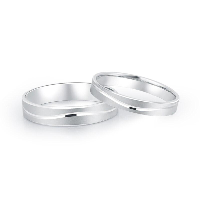 Platine blanc véritable or massif véritable PT950 mariage fiançailles Propose des bagues bandes pour femmes hommes Couple bijoux de mariage fantaisie