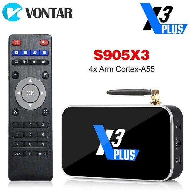 X3プラスtvボックスアンドロイド9.0のスマートtvボックスS905X3 DDR4 ram 4ギガバイト64ギガバイト2.4グラム/5 3g wifi 1000メートルのbluetooth 4.2セットトップボックス4 18k hd