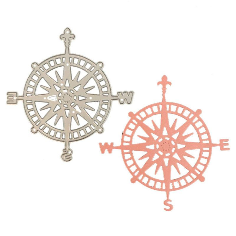 Cutter Dies Compass-Pattern Lace Hollow Background Carbon Steel DIY Multi-Function Scrapingbook Decoration(China)
