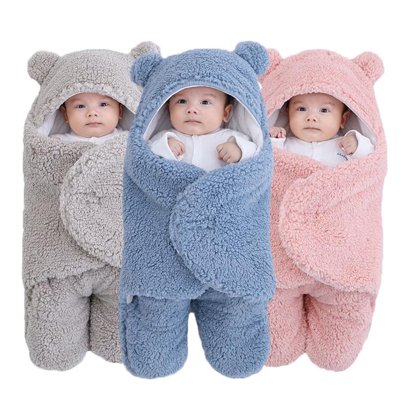 Soft Newborn Baby Wrap Blankets Baby Sleeping Bag Envelope For Newborn Sleepsack 100% Cotton thicken Cocoon for baby 0 9 Months