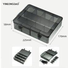 Съемный Пластик портативные детали коробка для хранения металлических