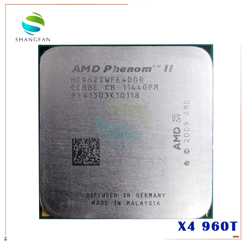 AMD Phenom II X4 960T 3.0Ghz Socket AM3 4 Core 6MB L3 95W HD96ZTWFK4DGR Processor Only OEM