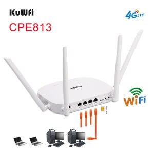 Image 2 - Bộ định tuyến Wifi KuWFi 4G LTE 300Mbps Bộ định tuyến CPE không dây 3G / 4G có khe cắm thẻ Sim Hỗ trợ 4G sang LAN Với 4 chiếc Antenas lên đến 32 người