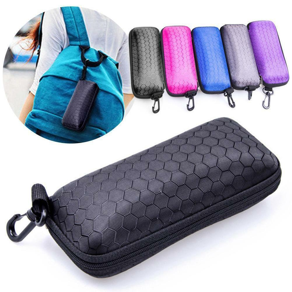 Glasses Storage Box Zipper Hard Eye Glasses Case Protable Eyewear Protector Box Rectangle Bags Glasses Cases U3G4