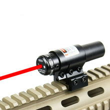 Tactical Red Dot Laser Sight Scope For Air Gun Rifle Weaver Adjustable 11/20mm Picatinny Rails Mount Rail For Airsoft Hunting(China)