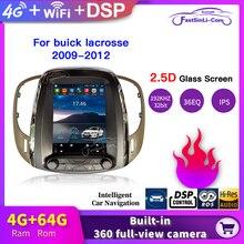 뷰익 라크로스 2009 2012 년 GPS 수직 화면에 대한 4 기가 바이트 + 64 기가 바이트 자동차 안드로이드 멀티미디어 플레이어