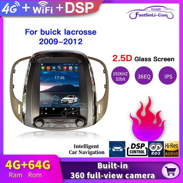 4GB + 64GB Auto Android Multimedia player für buick lacrosse 2009 2012 jahr GPS Vertikale bildschirm