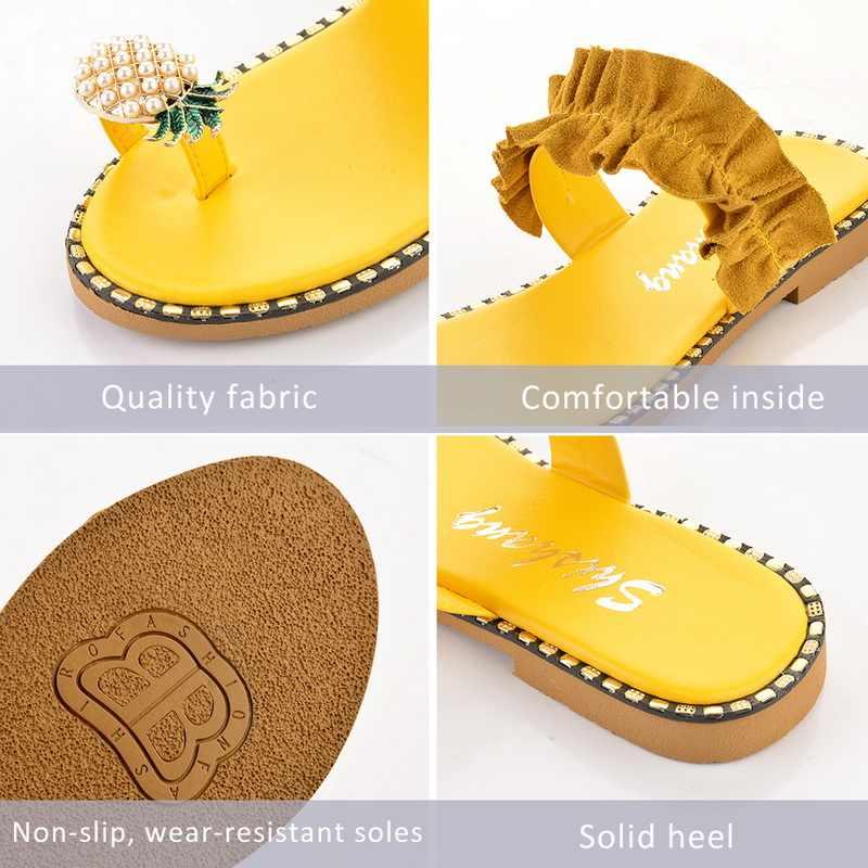 Phụ Nữ Dép Thơm Ngọc Trai Phẳng Ngón Chân Bohemian Giày Đi Biển Cho Nữ Giày Nền Tảng Sandalias De Mujer 2020