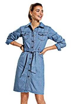 Vestido vaquero camisero mujer - 042439