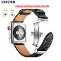 Ремешок для Apple watch  ремешок из натуральной кожи для apple watch 5  4  3  44 мм  40 мм  iwatch band 42  38 мм  браслет для часов correa