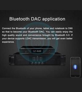 Image 5 - أعلى D90 MQA AK4499 AK4118 بلوتوث 5.0 كامل متوازن DAC فك ، XMOS XU216 ، DSD512 PCM 32bit/768kHz ، جهاز التحكم عن بعد ،