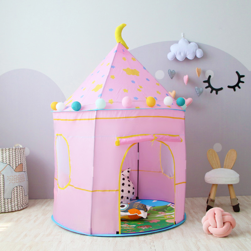 Children's Tent Portable Kids Tent Princess Castle Indoor Outdoor Play House Baby Toys For Children Foldable Tent Christmas Gift